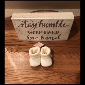 NWT Just One You Newborn Baby Booties with Flowers